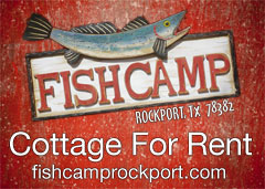 Fishcamp Cottage for Rent in Rockport, TX
