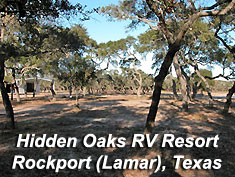 Hidden Oaks RV Resort in Rockport (Lamar), TX